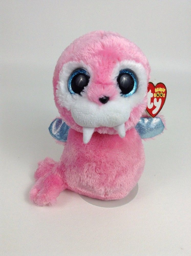 Ty Beanie Boos Tusk Pink   Blue Walrus Plush Stuffed Animal Toy TAGS ... 413182892d07