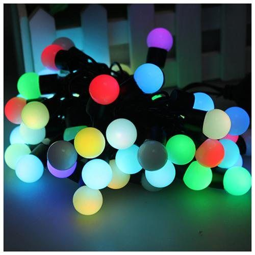 3 Pack Colorful RGB Changing Color LED Ball String Lights for Halloween Christmas Xmas Parties Decoration