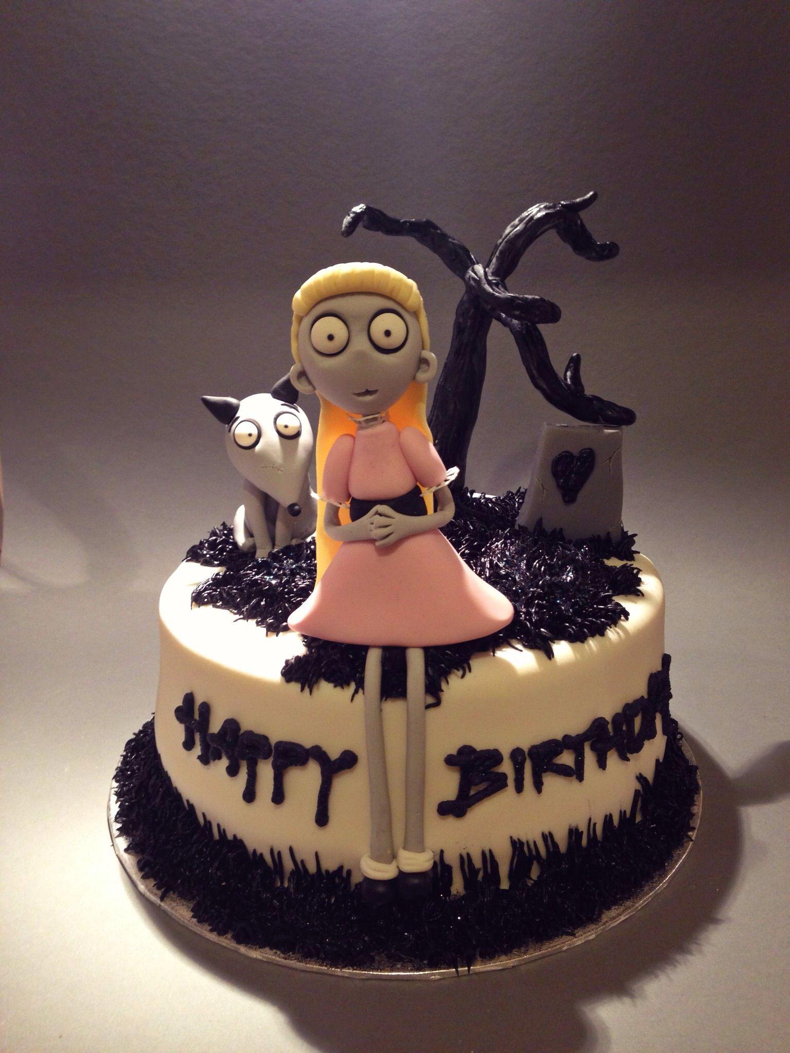 Frankenweenie Cake, Fondant FrankenweenieCorpse Bride Pinterest - Halloween Cake Decorating Ideas