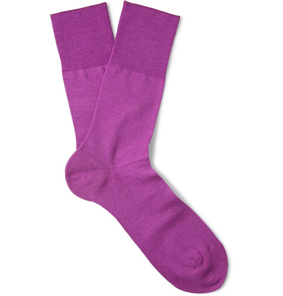 6b096a03f Falke - Airport Wool and Cotton-Blend Socks