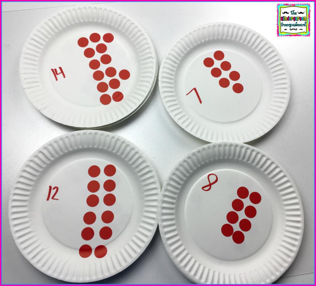 Paper Plate Centers DIY   The Kindergarten Smorgasboard & Paper Plate Centers: DIY   Counting puzzles Math and Kindergarten ...
