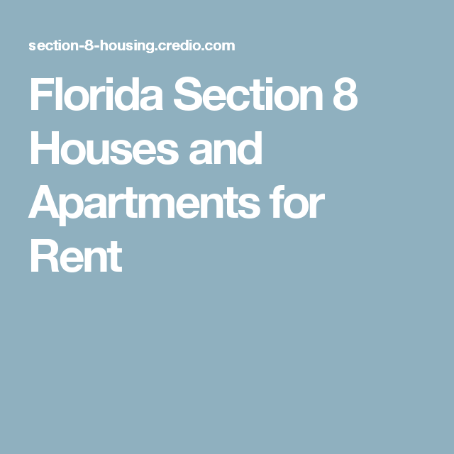 Section 8 Apartments For Rent: Florida Section 8 Houses And Apartments For Rent (With