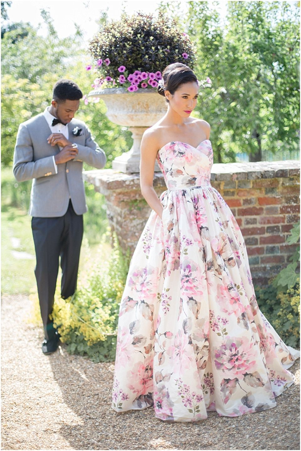 Flower print wedding gown  Wendy Makin floral print wedding gown  Wedding Dresses  Pinterest