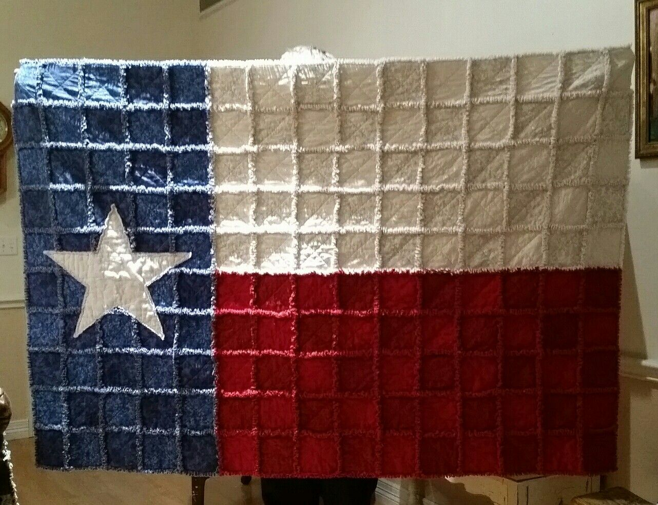 My First Texas Flag Rag Quilt Rag Quilt Patterns Texas Quilt Quilt Sewing Patterns