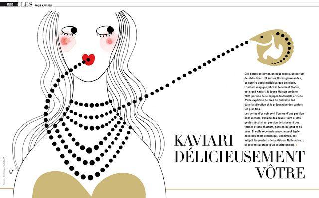 illustration pour Kaviari dans le Magazine CLES