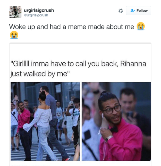 A Teen Became A Meme After Someone Took A Photo Of His Reaction To Seeing Rihanna