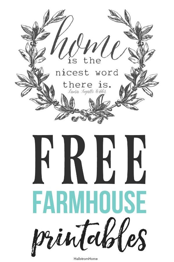 Free Printable Farmhouse Signs : printable, farmhouse, signs, French, Farmhouse, Printables, Decor, Hallstrom, Printables,, Kitchen