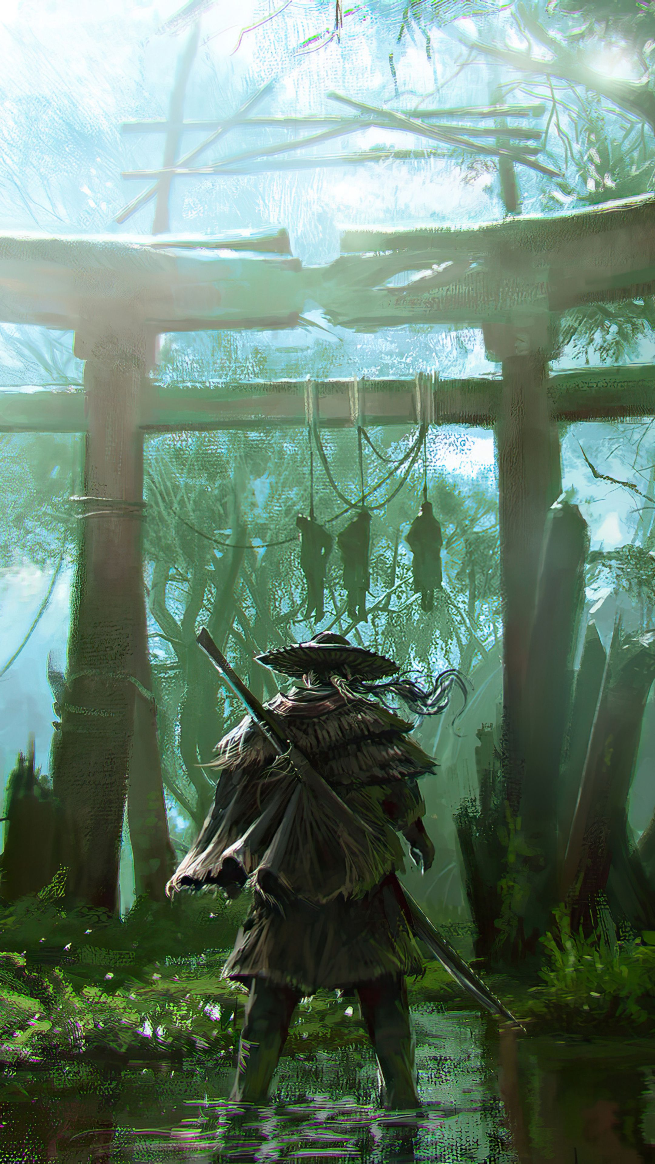 Ghost Of Tsushima Game Mobile Hd Wallpaper In 2020 Samurai Wallpaper Ghost Of Tsushima Samurai Artwork