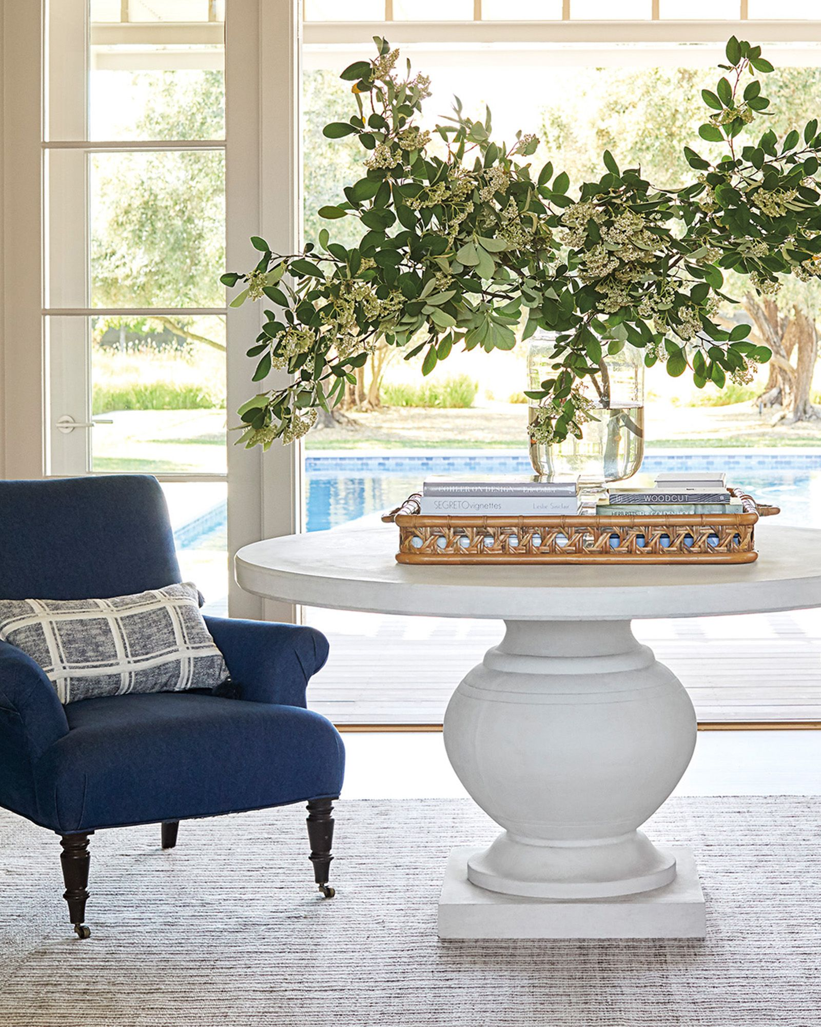 Terrace Round Dining Table In 2020 Round Table Decor Round Foyer Table Entryway Round Table