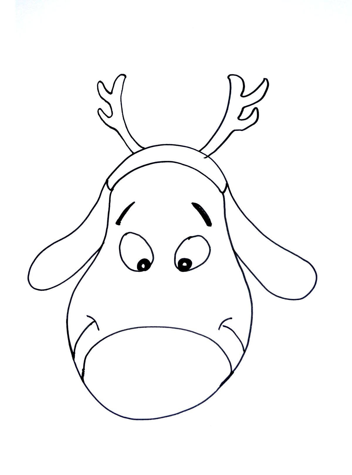 Dessin De Pere Noel Simple : a santa 39 s reindeer very simple coloring page christmas ~ Pogadajmy.info Styles, Décorations et Voitures