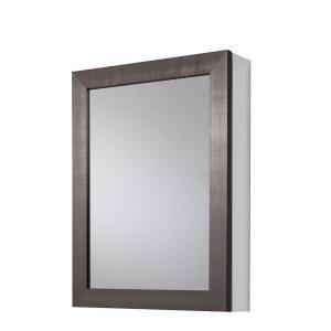 Glacier Bay 20 In X 26 In Framed Aluminum Recessed Or Surface Mount Bathroom Medicine Cabinet