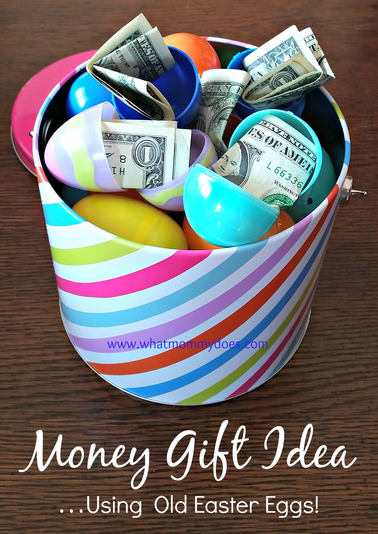 Bucket full of money filled easter eggs a cute money gift idea easter egg money bucket a cute money gift idea negle Choice Image