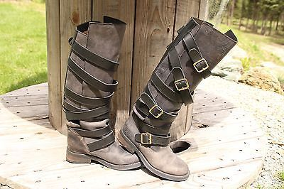 3839022c9df SEXY Western STEVE MADDEN ' BRYANT' BELTED BUCKLE RIDING BIKER BOOTS ...