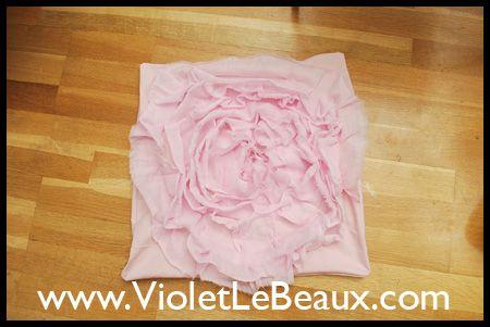Rose Cojín de coser Tutorial - Violeta Lebeaux - Gratis Artesanía lindo y belleza Tutoriales