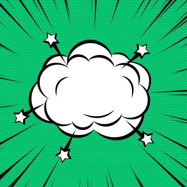 Download Comic Cloud Or Smoke On Zoom Lines Background for