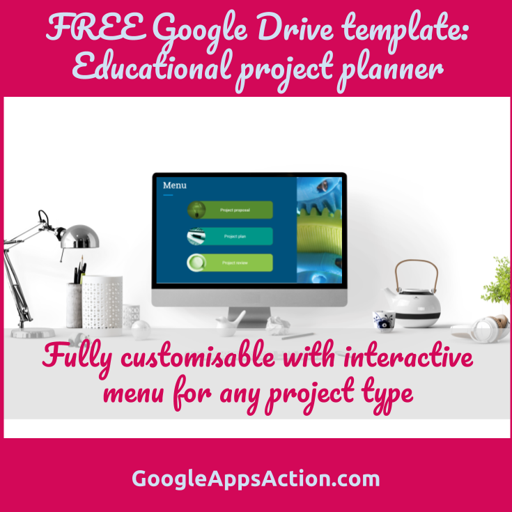 FREE Google Slides Template Educational Project Planner To Help - Google drive slides templates