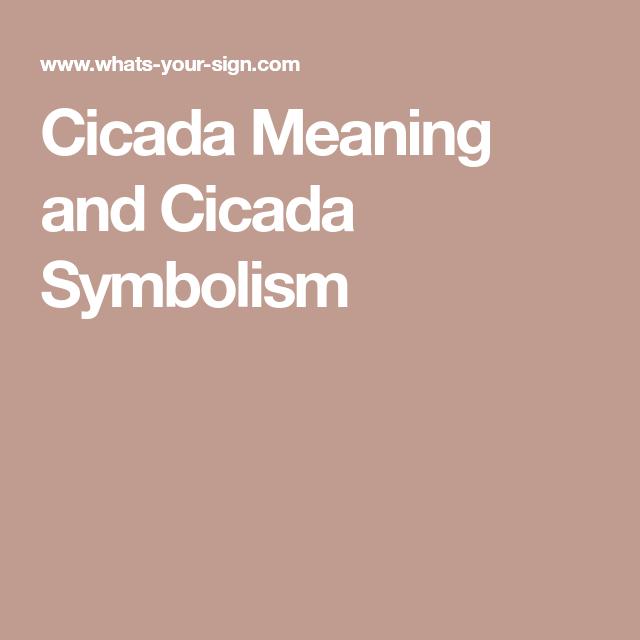 Cicada Symbolic Meaning Gallery - definition of symbolism