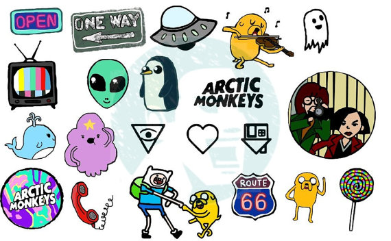 Set #77 Tumblr Stickers Stickers Set of stickers Decals in 2019