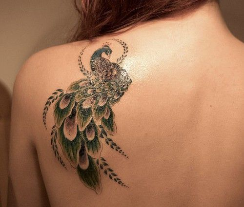 Peacock Shoulder Tattoo Designs #cooltattoodesigns http://tattoodesignsdo.com/cool-tattoo-designs/