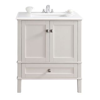Windham Soft White 30-inch Bath Vanity with 2 Doors ...