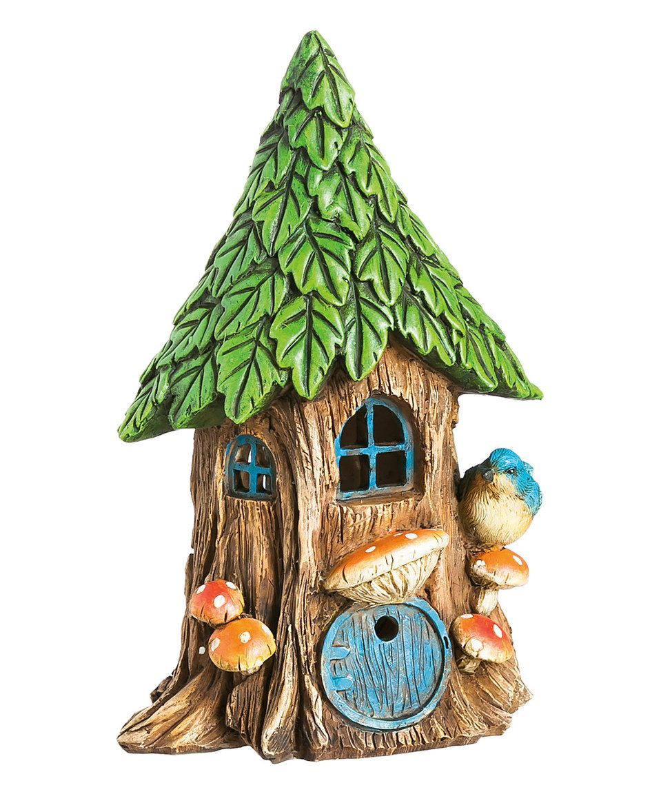 Loving this 9\'\' Forest Foliage Light-Up Fairy House Garden Décor on ...
