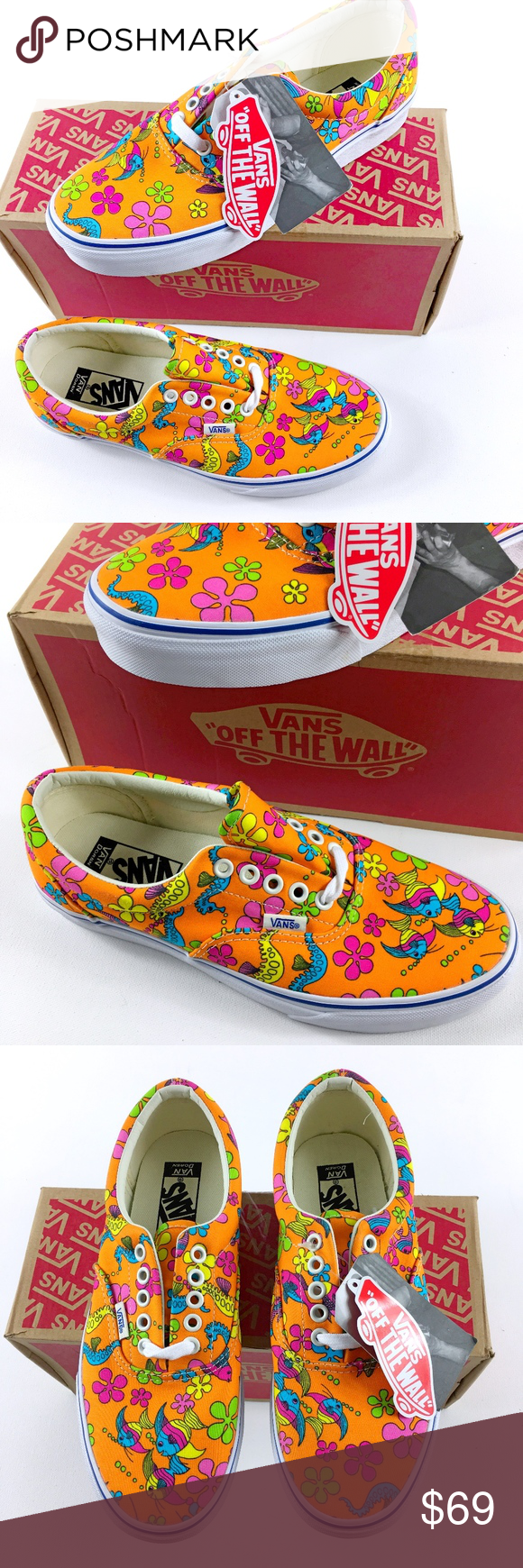 b9ac364ff70a23 Vans Era Orange Sea Creature RARE Vans Era Van Doreen Orange Sea Creature  Rare and collectable