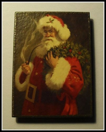 """""""Santa"""". Christmas Magnet. Home Décor magnet from my «Magnetic Force» collection. Made to order."""