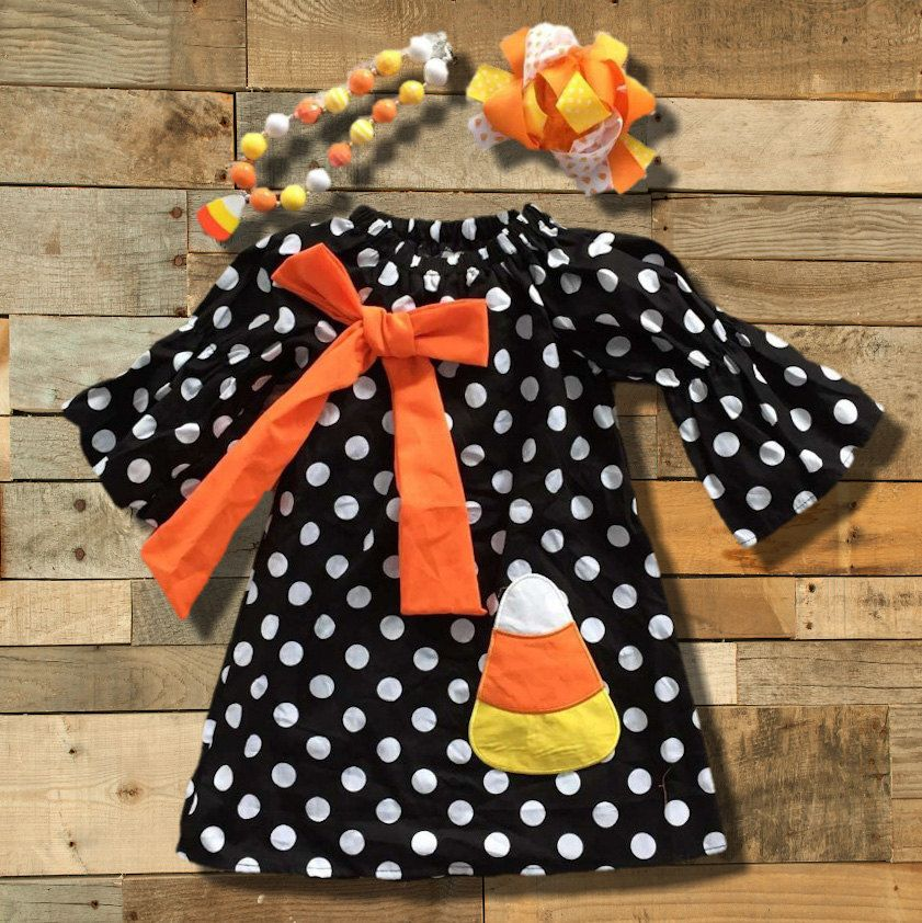 Halloween Dress Girls Thanksgiving Dress Baby Girl Fall Dress  Tunic