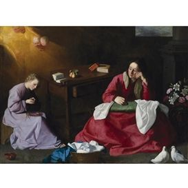 zurbaran christ and the virgin in the house at nazareth - Google Search