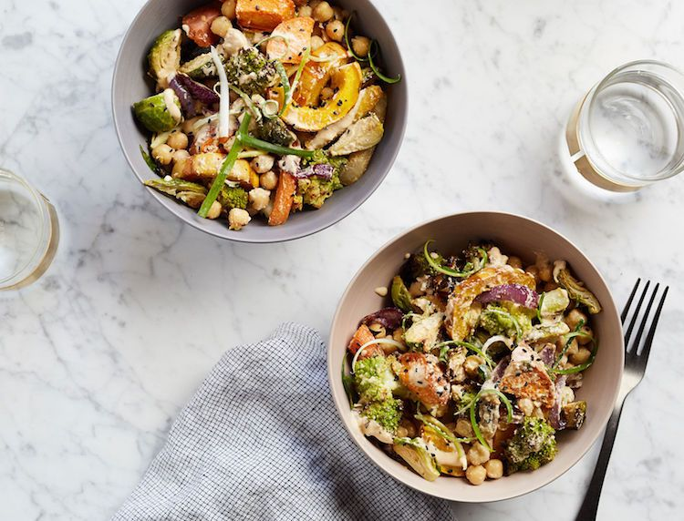 Easy dinner idea: This bowl, packed with tons of veggies plus protein from the chickpeas, is easy, filling, and good for you—and that's hard to beat.