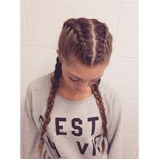 Two Dutch Braids Hair Styles Plaits Hairstyles Braided Hairstyles