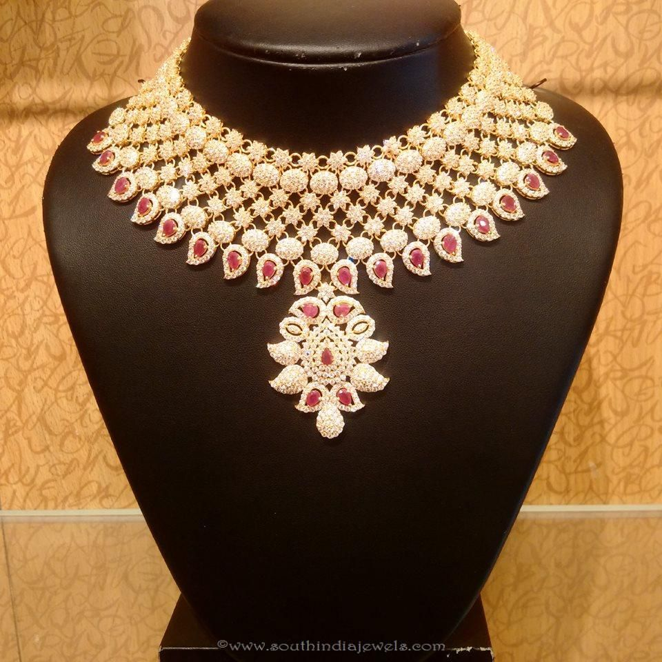 New Gold Bridal Necklace Design from NAJ | Necklace designs, Gold ...