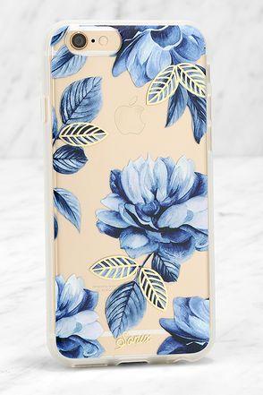 Sonix Clear Indigo Blue Floral Print Iphone 6 And 6s Case Floral Iphone Case Iphone Case Covers Metal Iphone Case