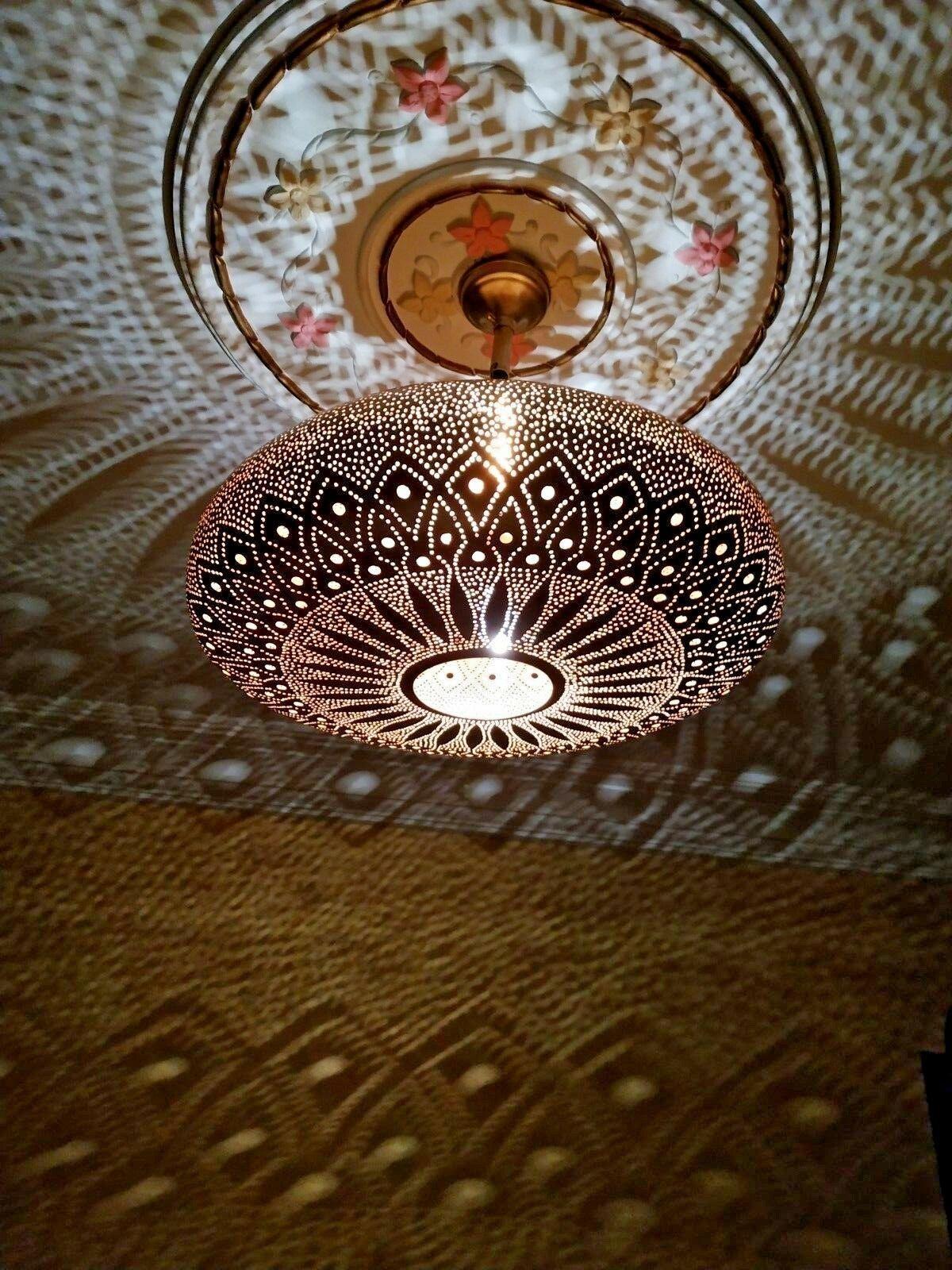 Pendant Lights Brass Moroccan Suspension Hanging Ceiling Chandelier Fixture