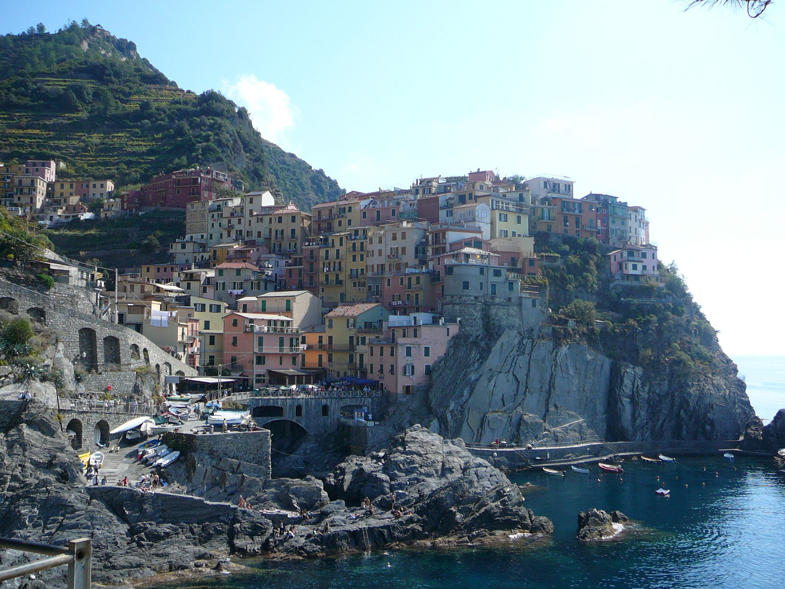 In the Cinque Terre on the Ligurian coast in Italy