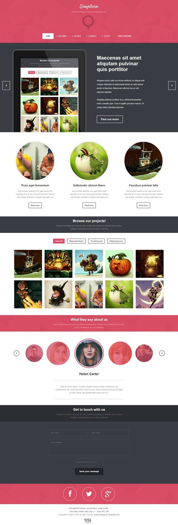 Portfolio Design Template | Simplicon Joomla Web Designer Portfolio Template Joomla Templates