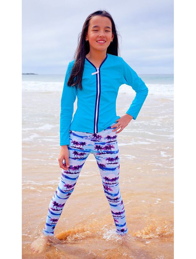 6329f992 Solartex Sun Gear - Girls Swim Tights by Platypus -Sizes 8 to 14, $38.90