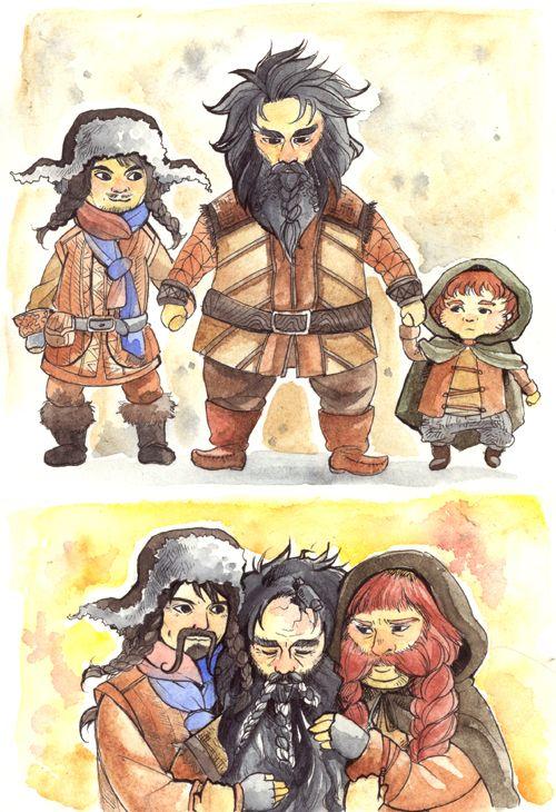 Petitpotato Family Bofur Bifur And Bombur Hobbit
