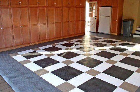 Snap Together Garage Flooring Tiles With Custom Design