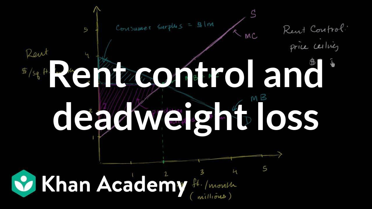 Rent Control And Deadweight Loss Microeconomics Khan Academy Khan Academy Academy Rent