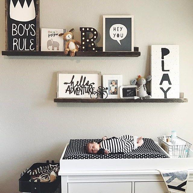 Shelves For Baby Room It 039 S Just Another Monochrome Monday Design By Laurajilizian Nursery Shelves Baby Room Decor Boy Room