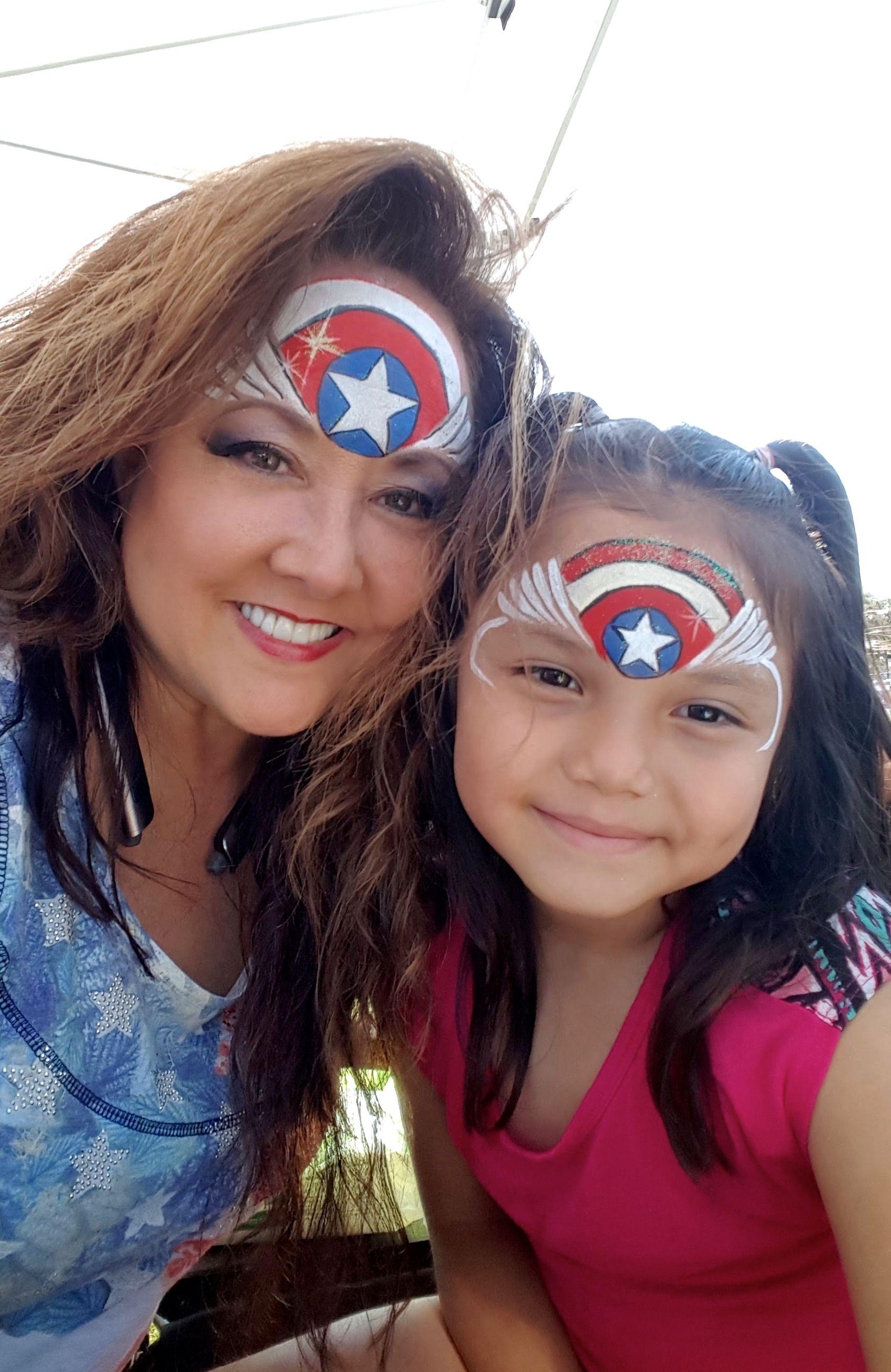Captain america face paint maquillage enfants pinterest peinture visage maquillage enfant - Captain america fille ...