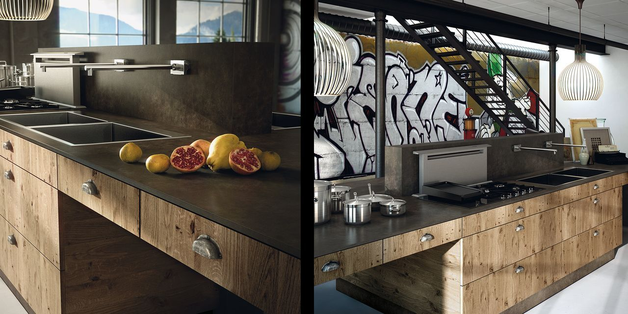 CUISINE DESIGN EN BOIS | Cuisine design en bois contemporain ...