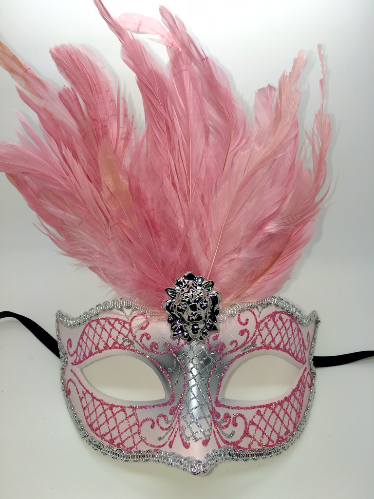 Jester Masquerade Ball Mask Pair Champagne Rose gold Mardi Gras Carnival  Party