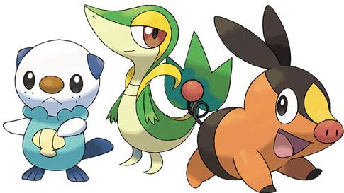 Tepig Snivy Oshwatt Black Pokemon Pokemon White Pokemon Black And White
