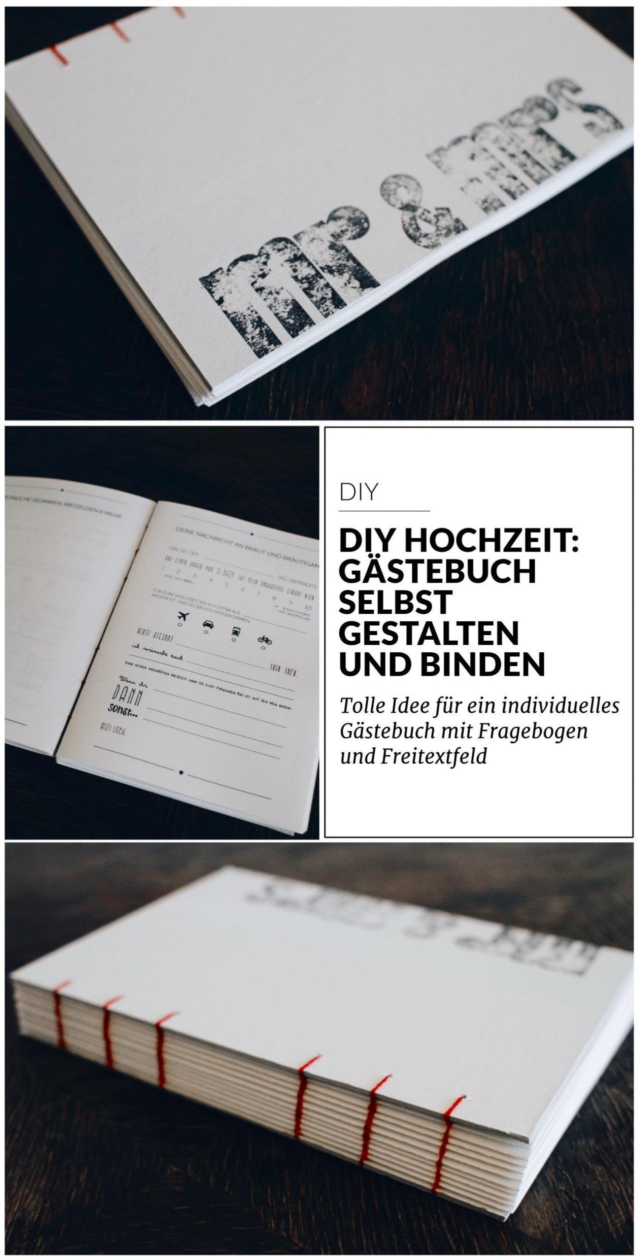 DIY Hochzeit: Gästebuch selbst gestalten und binden | Hochzeit ...