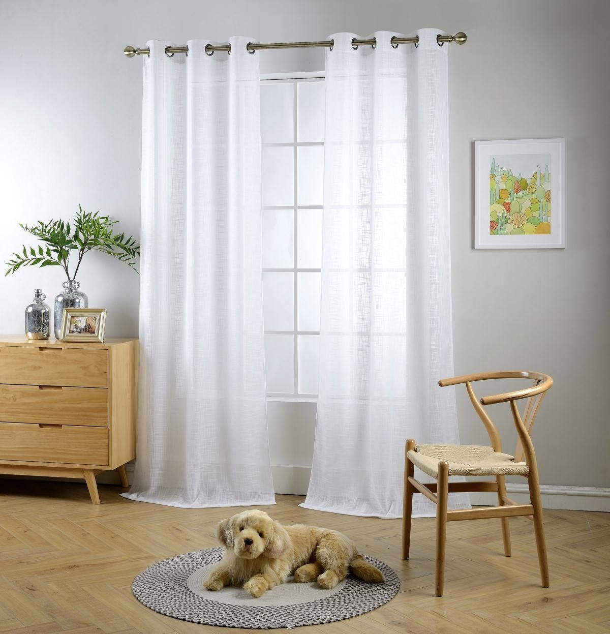 Miuco white sheer curtains poly linen textured solid grommet curtains 84 inches long for living room 2 panels 2 x 37 wide x 84 long white pinterest
