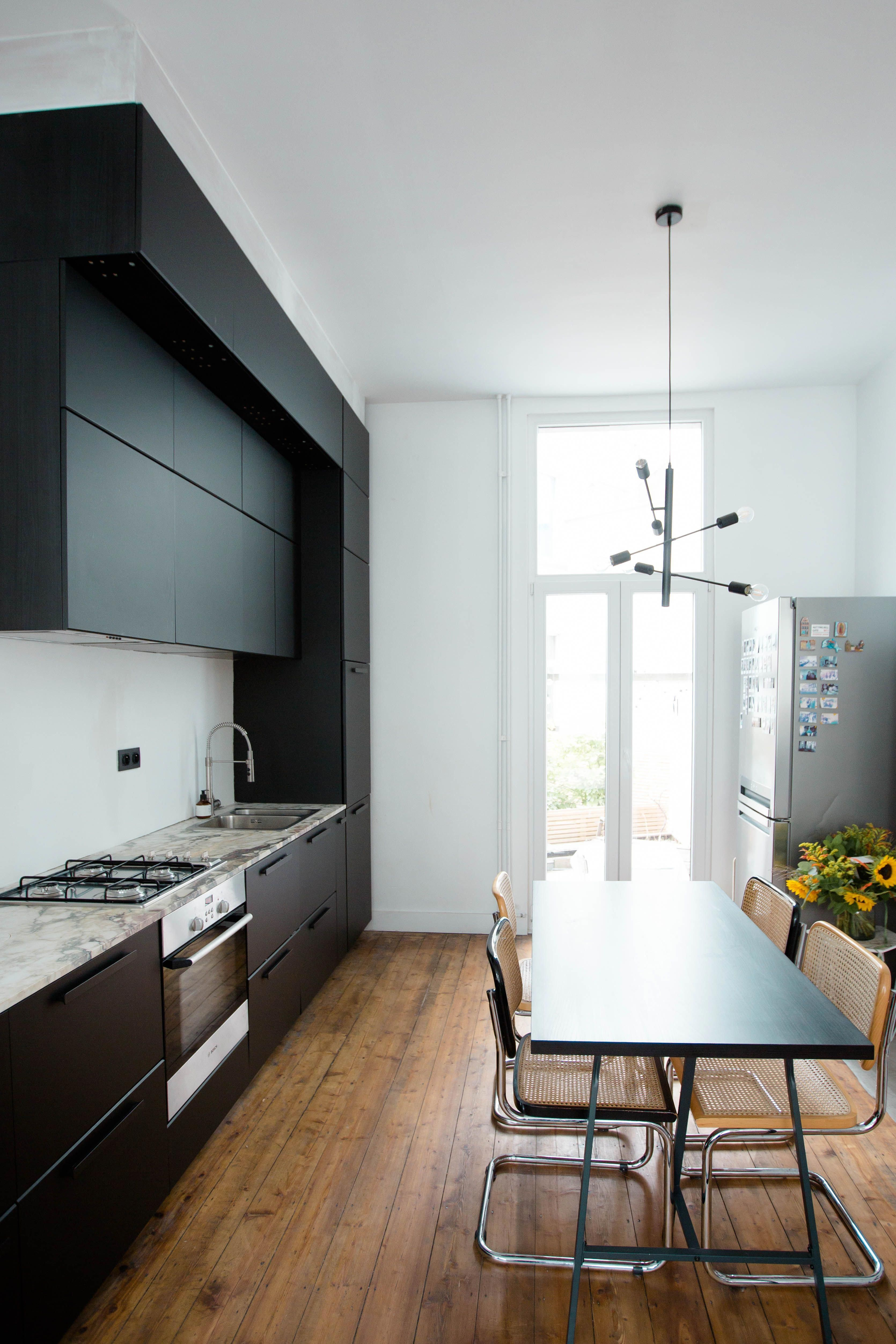 Our black & marble IKEA Kungsbacka kitchen makeover