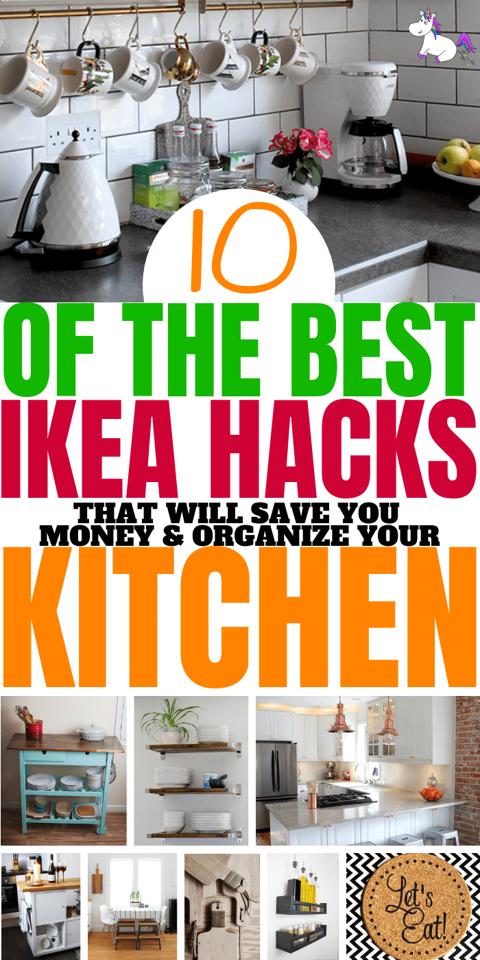 10 of the best ikea kitchen hacks that will organize your kitchen save you money ikea hacks make home decor on a budget easy