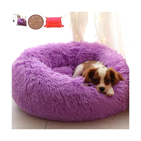 Ailotrd Dog Beds Extra Soft Washable Comfortable Pet Bed Sofa Waterproof Round Plush Donut Cats Nest Bed Cushions 70c Pet Sofa Bed Dog Bed Comfortable Pet Bed